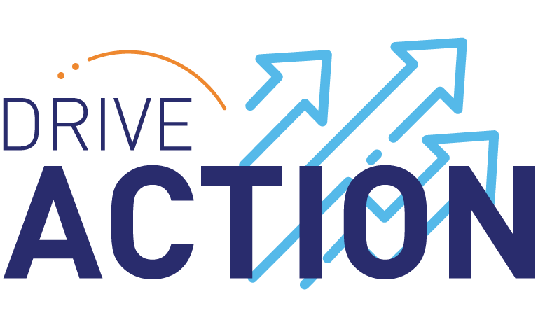 Drive Action graphic with arrows pointing upwards.
