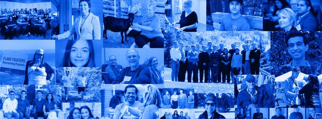 Photo collage of NPF volunteers.