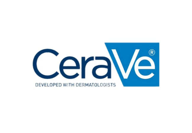 Cerave logo on a white background.