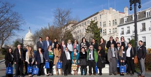On capitol hill day, a group of NPF advocates gather after meeting with lawmakers about chronic disease health legislation.