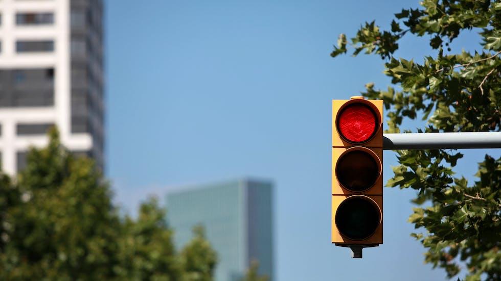 Un semáforo.