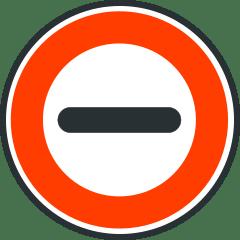 Señal de obligación de detenerse para todos los vehículos.