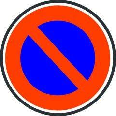 Señal de estacionamiento prohibido.