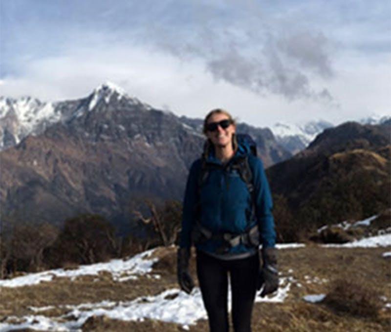 Anna Martinsson on a mountain trail