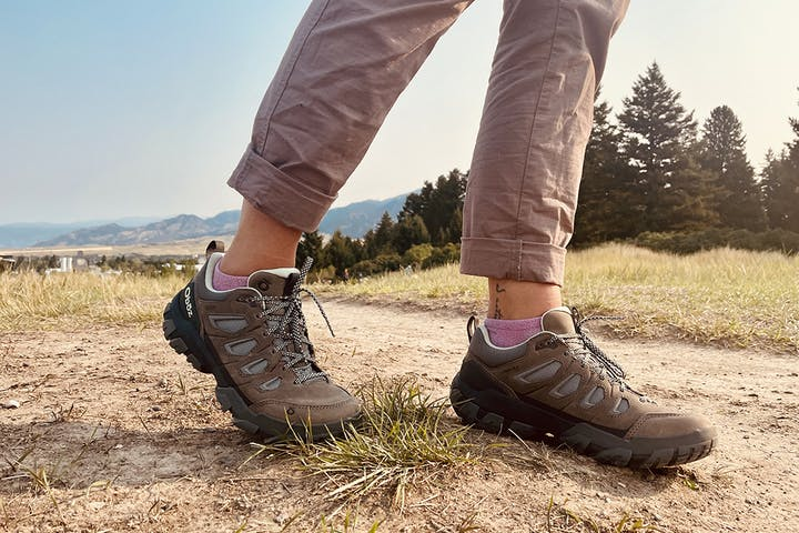 A person hiking in the new Sawtooth X launching in Spring 2022