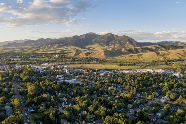 Panoramic view of Bozeman, MT