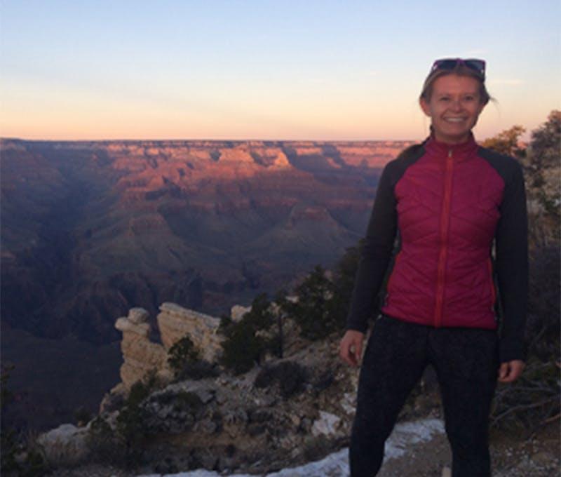 Kelly Thurston on a hike