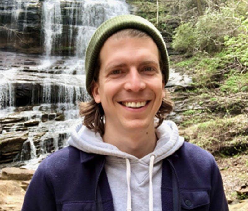 JP Hudson exploring some waterfalls