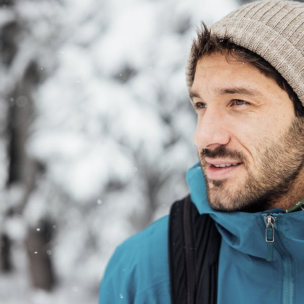 Braving the cold in the Sawtooth II Insulated