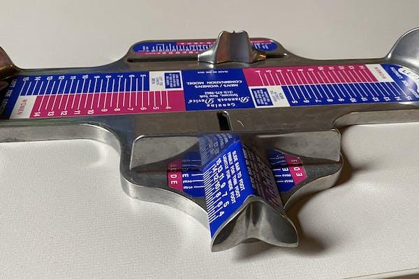 A Brannock device.