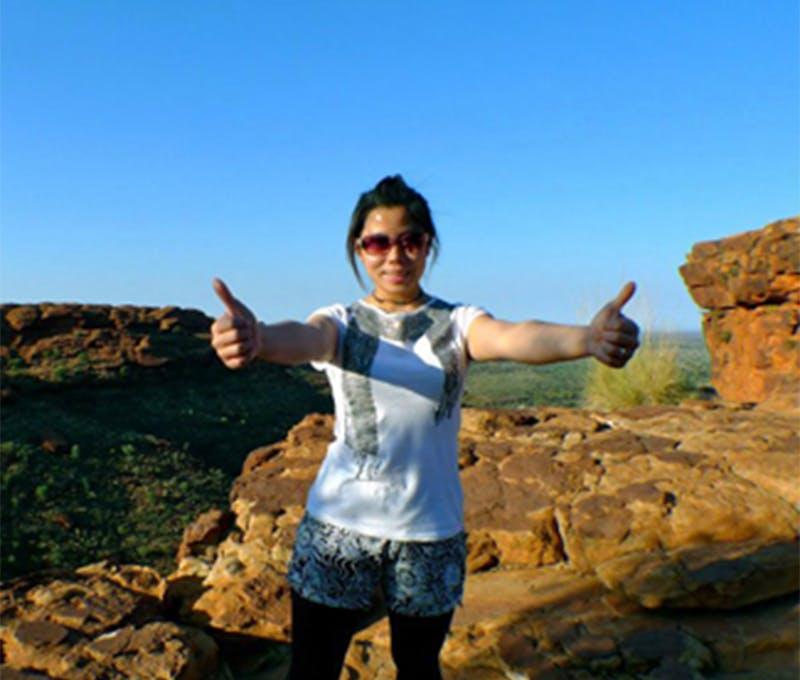 Jasmin Chang enjoying the outdoors