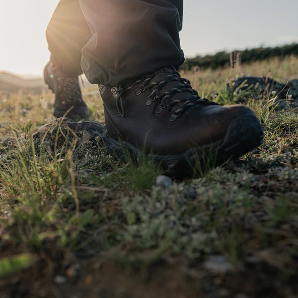 Yellowstone Premium boot rolling over rough terrain