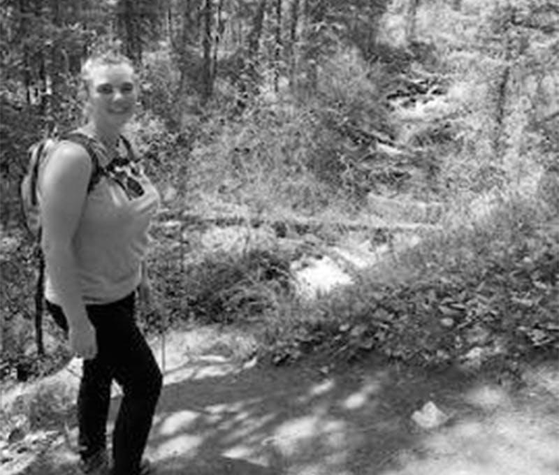 Jessica DeLashmutt on the trail