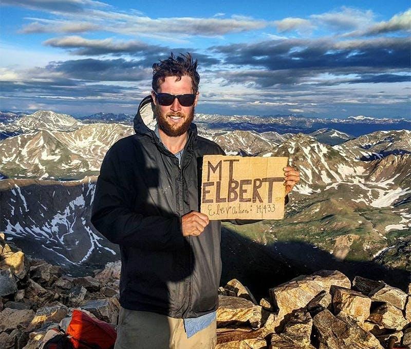 Corey McPherson on a hike