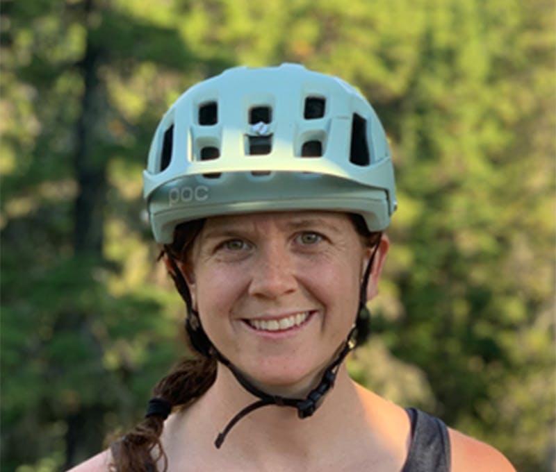 Dara McDevitt enjoying time on the bike