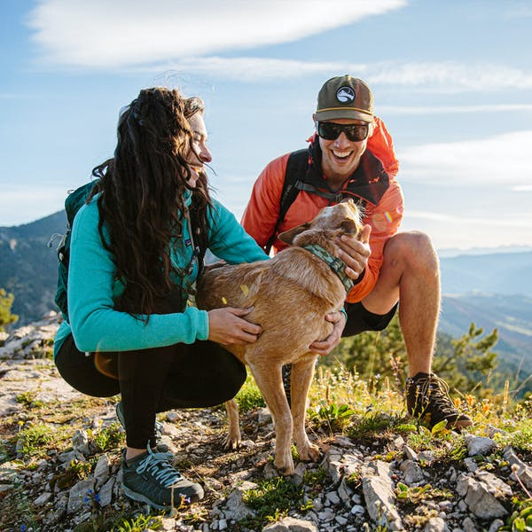 On the trail with the Bozeman and our favorite pup