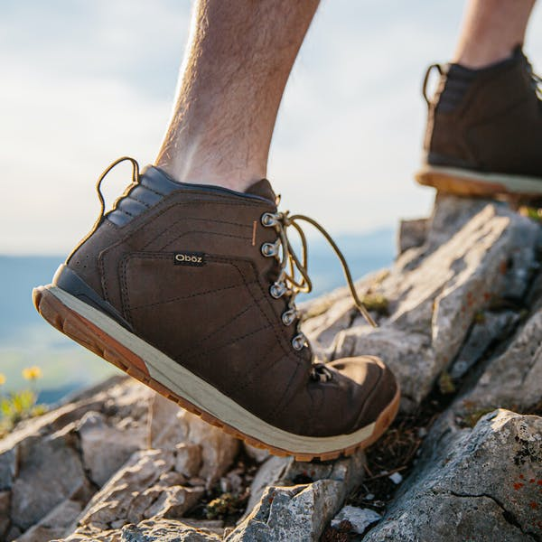 Bozeman Mid Leather on the trail