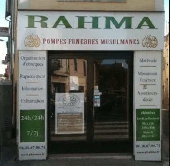 Photographie de la Pompes Funèbres Rahma de Nîmes