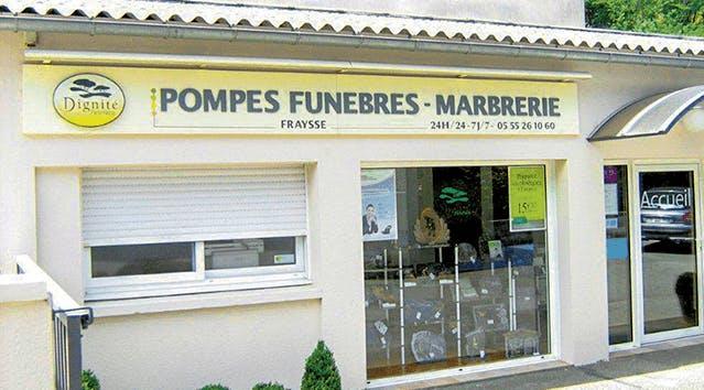 Photographie de Pompes Funèbres et Marbrerie Fraysse de la ville de Laguenne