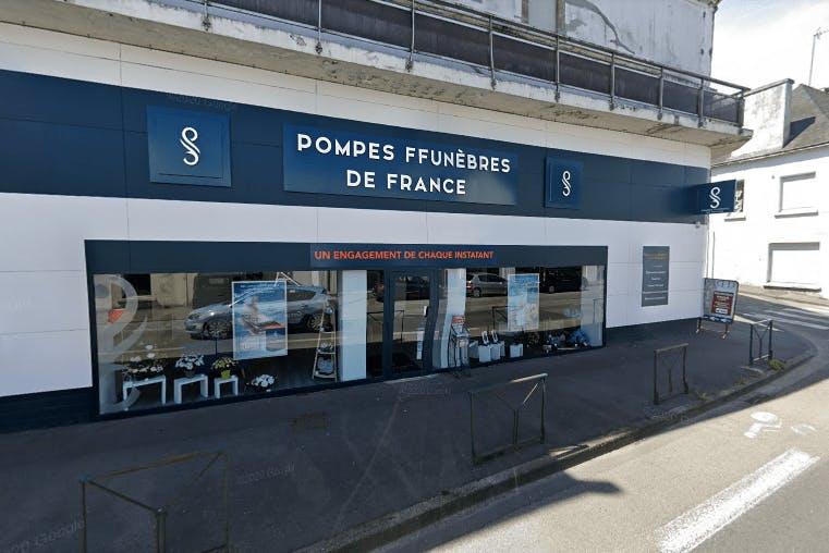 Photographie de la Pompes Funèbres de France à Quimper