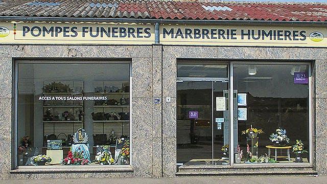 Photographies des Pompes Funèbres et Marbrerie Humières à Bourbourg