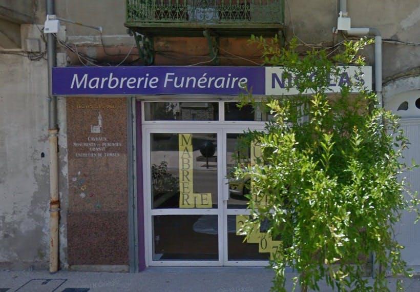 Photographies de la Marbrerie Funéraire Nicolas à Saint-Ambroix