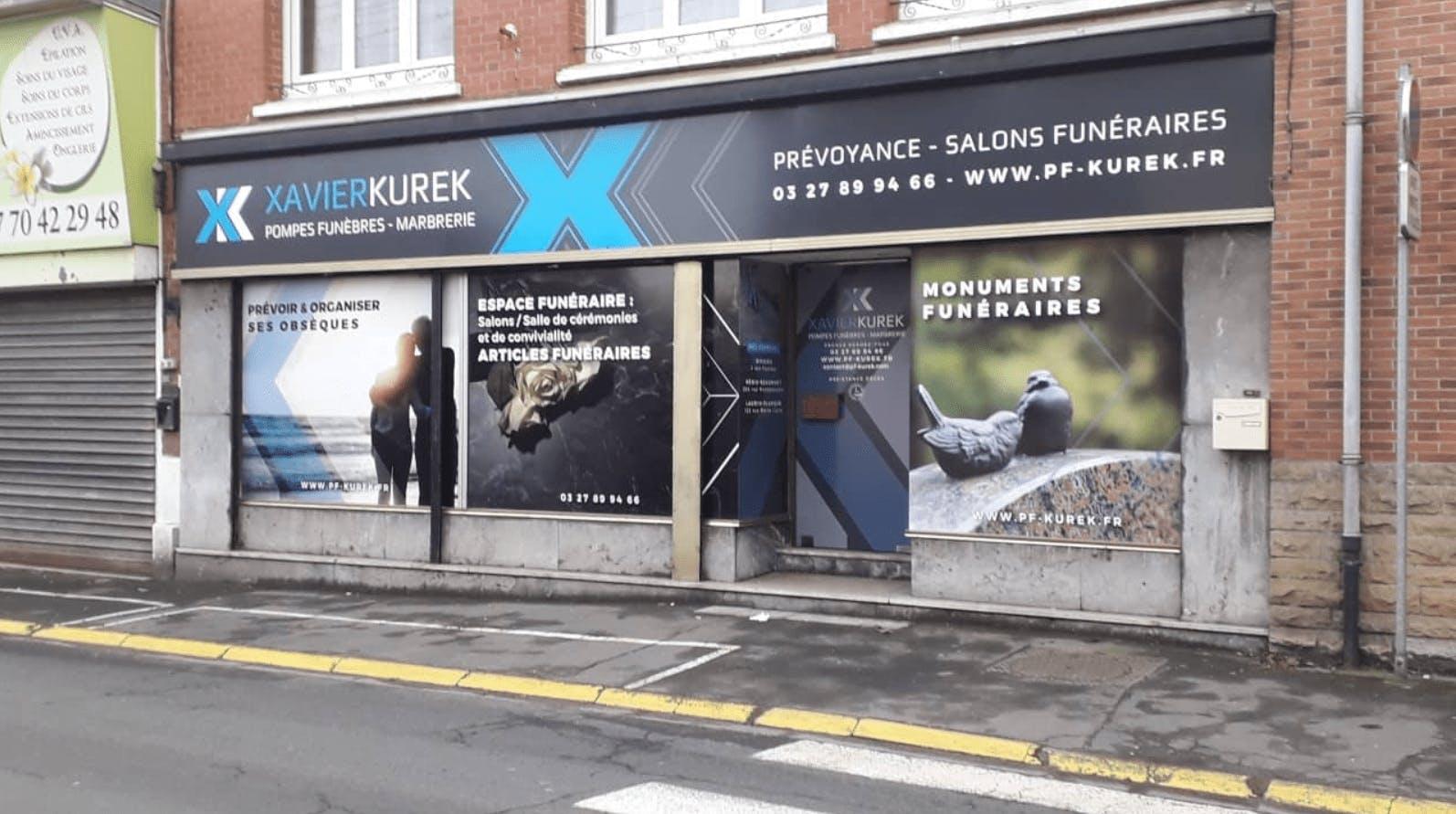 Photographie de la Pompes Funèbres Kurek Halliez de Ostricourt