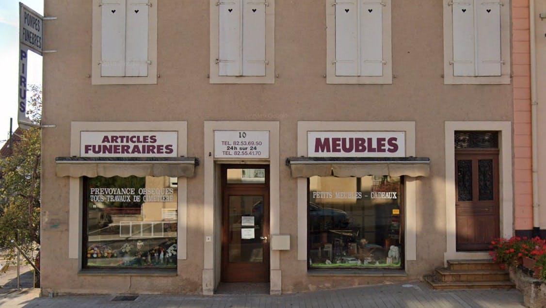 Photographies des Pompes Funèbres et Marbrerie Pirus François Hettange-Grande