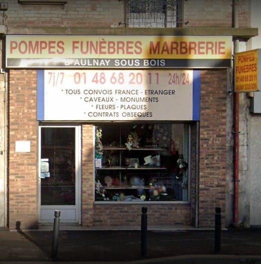 Photographies des Pompes Funèbres Marbrerie Aulnay
