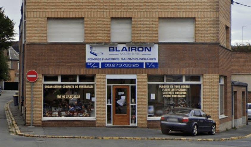 Photographie BLAIRON Marbrerie Pompes Funèbres de Solesmes