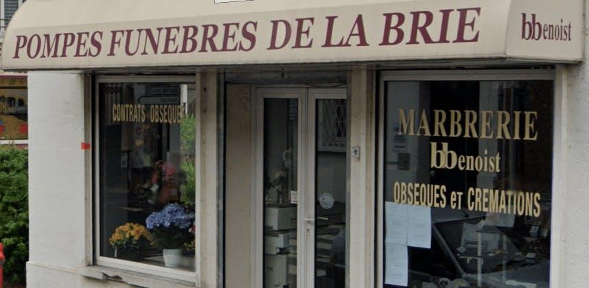 Photographie de la POMPES FUNEBRES DE LA BRIE B. BENOIST de Tournan-en-Brie