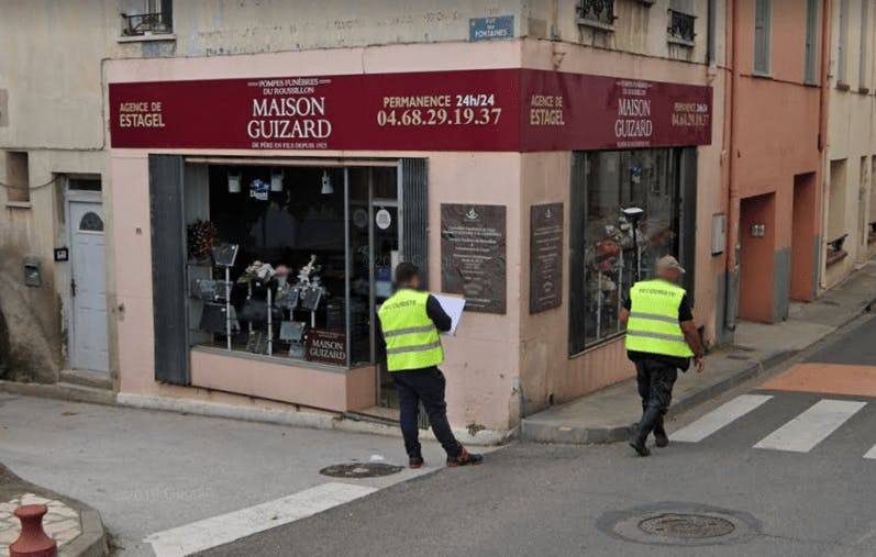 Photographie de la Pompes Funèbres et Marbrerie Maison Guizard à Estagel