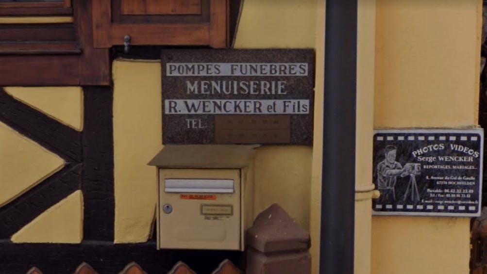Photographie Pompes Funèbres WENCKER de Hochfelden