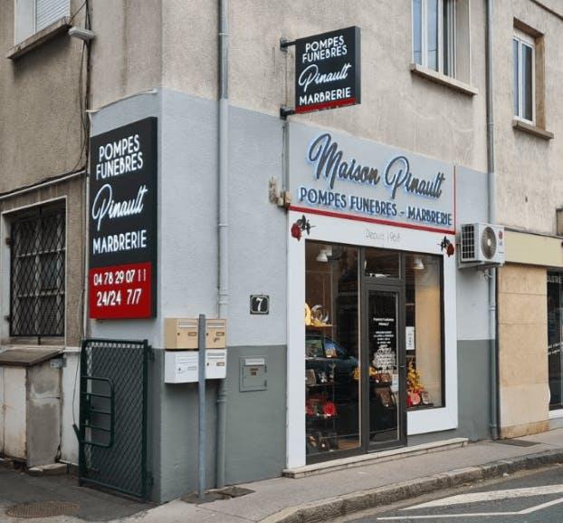 Photographie de la Pompes Funèbres Pinault à Neuville-sur-Saône