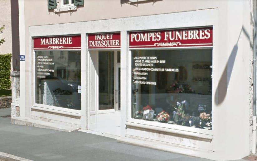 Photographie de la Pompes Funèbres Dupasquier à Beaujeu