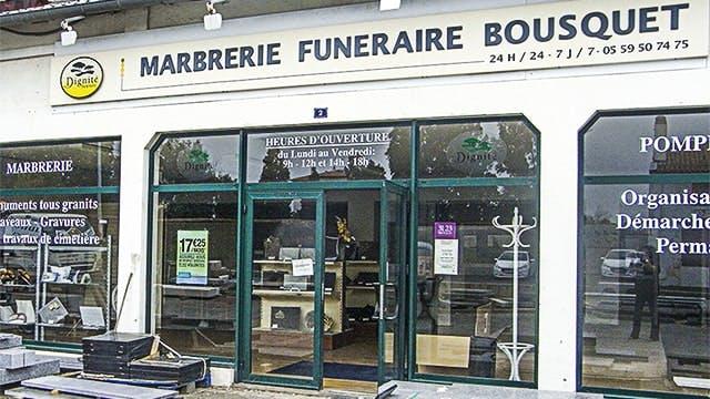 Photographies des Pompes Funèbres Marbrerie Bousquet à Bayonne