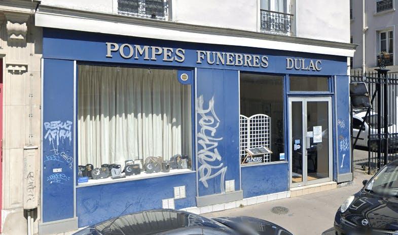 Photographie de la Pompes Funèbres Dulac à Paris