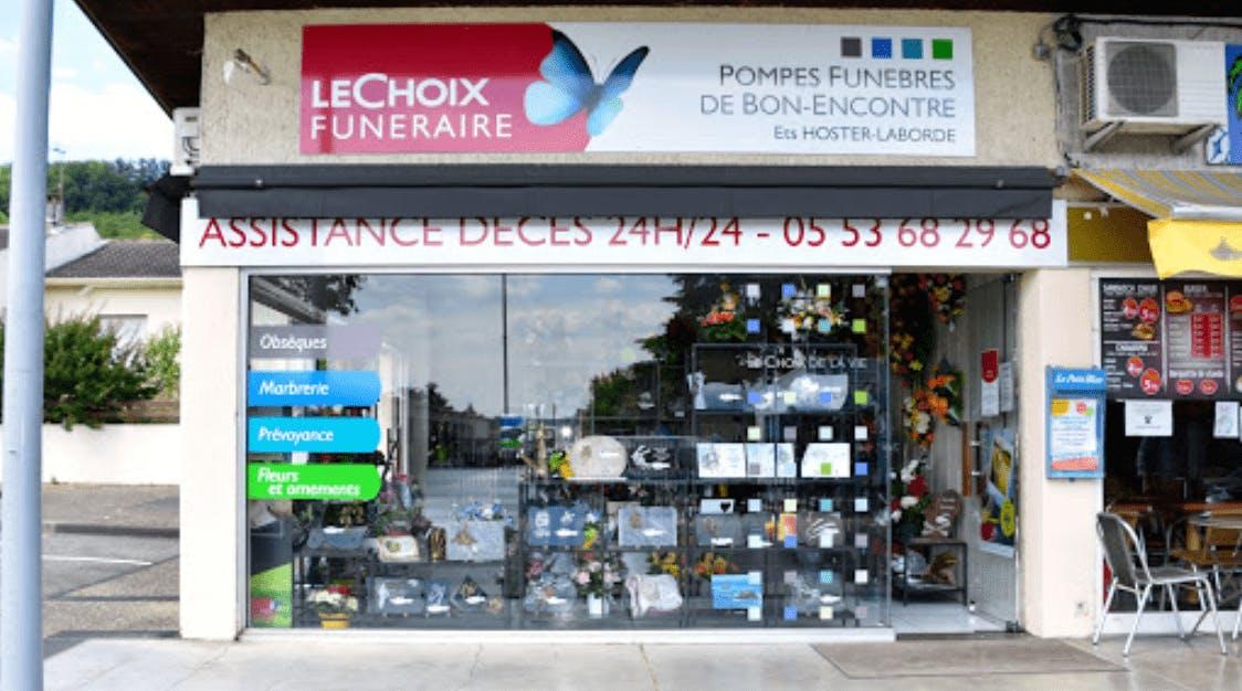 Photographie de Pompes Funèbres DE BON ENCONTRE - Le Choix Funéraire