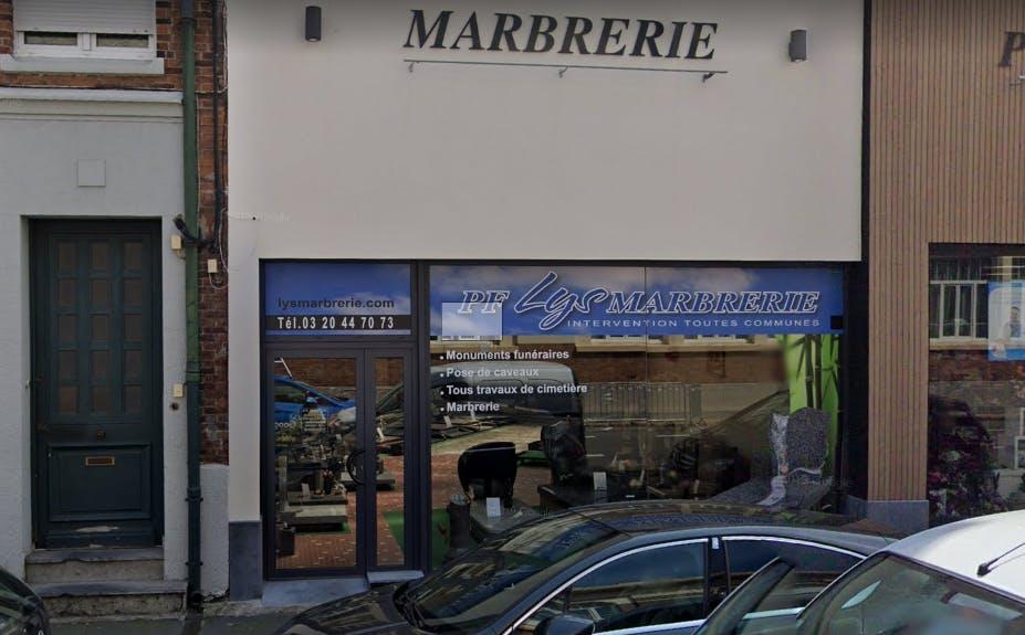 Photographie Pompes funèbres Lys MARBRERIE Armentières