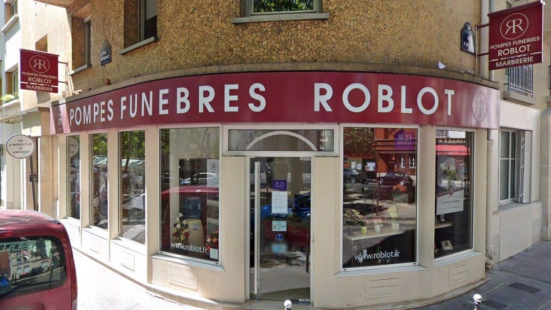 Photographies des Pompes Funèbres Roblot à Paris