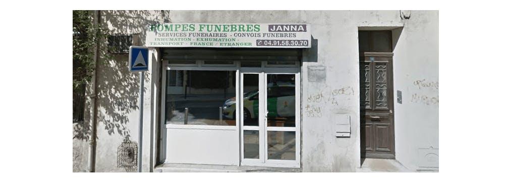 Photographie de la Pompes Funèbres Janna à Marseille