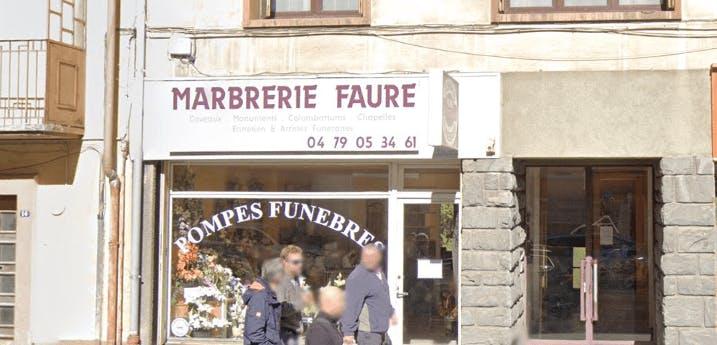 Photographie de la Pompes Funèbres et Marbrerie Faure de la ville de Fourneaux
