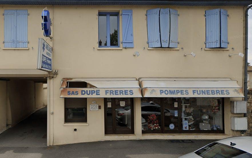 Photographie Pompes Funèbres Dupé Frères de la Rochefoucauld