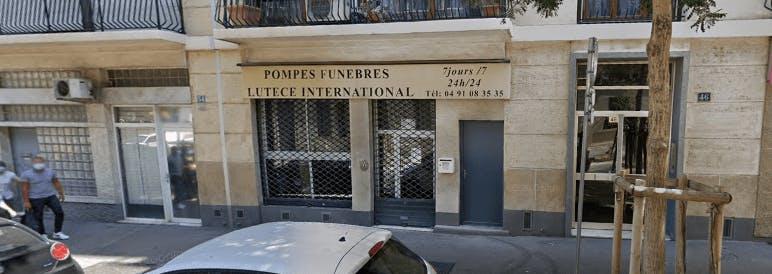 Photographie de la Pompes Funèbres Lutèce à Marseille