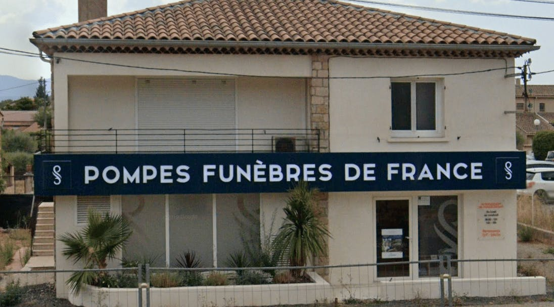 Photographie de la Pompes Funèbres de France de la ville du Luc