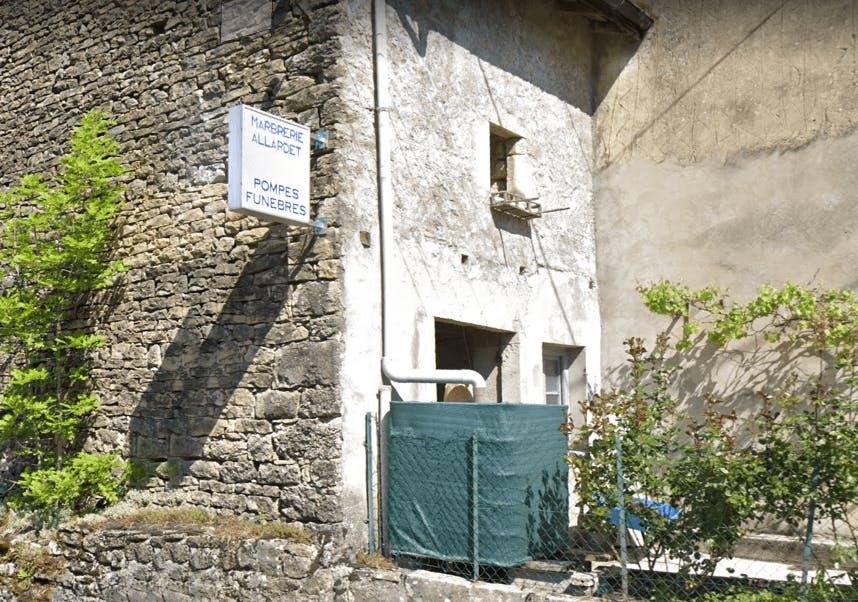 Photographie de Pompes Funèbres Marbrerie Allardet de la ville de Boyeux-Saint-Jérôme