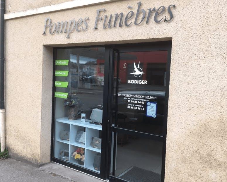 Photographie de la Pompes Funèbres et Marbrerie Bodiger à Daoulas