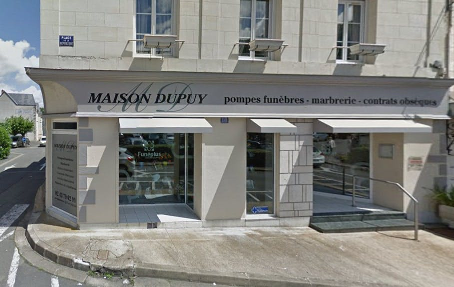 Photographies des Pompes Funèbres Maison Dupuy à La Chartre-sur-le-Loir