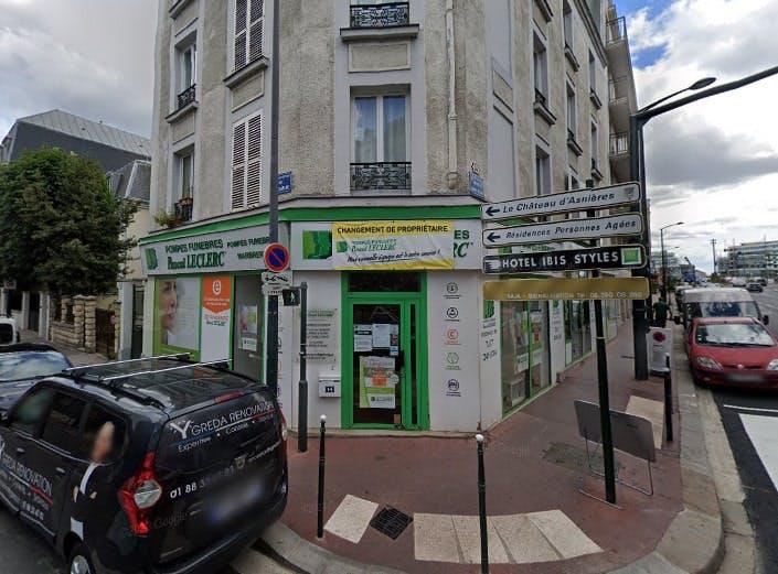 Photographie des Pompes Funèbres Pascal Leclerc à Asnières-sur-Seine