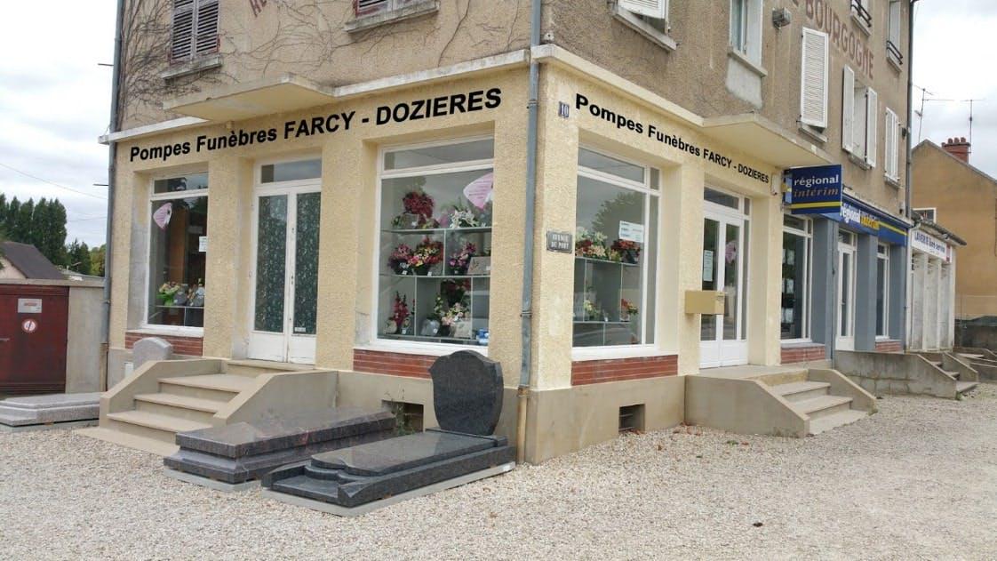 Photographies des Pompes Funèbres Farcy-Dozières à Migennes